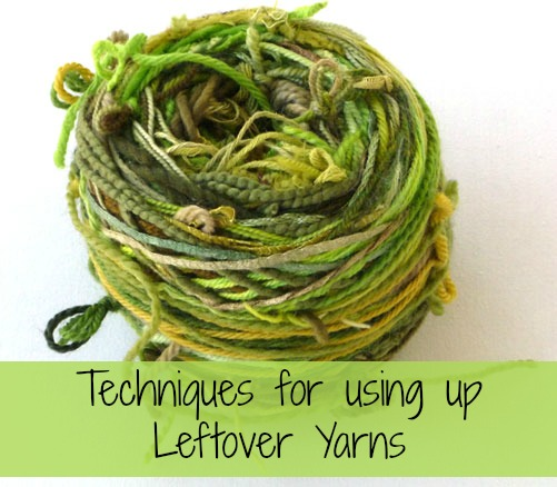 Techniques for using up leftover yarns