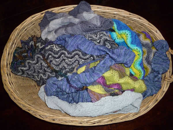 Basket of Scarves