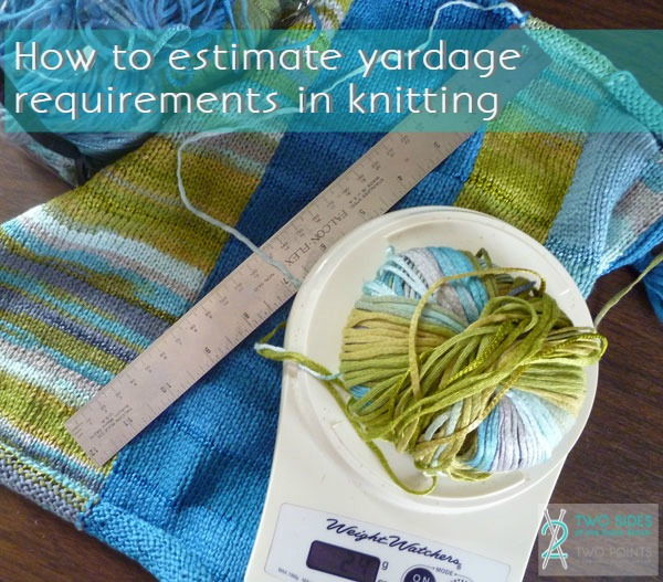How to estimate yardage requirements in knitting