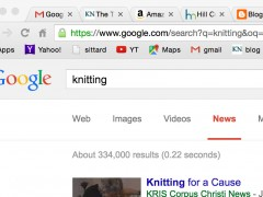 Knitting in the News