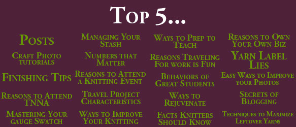 20 Top 5 Posts — What I Learned